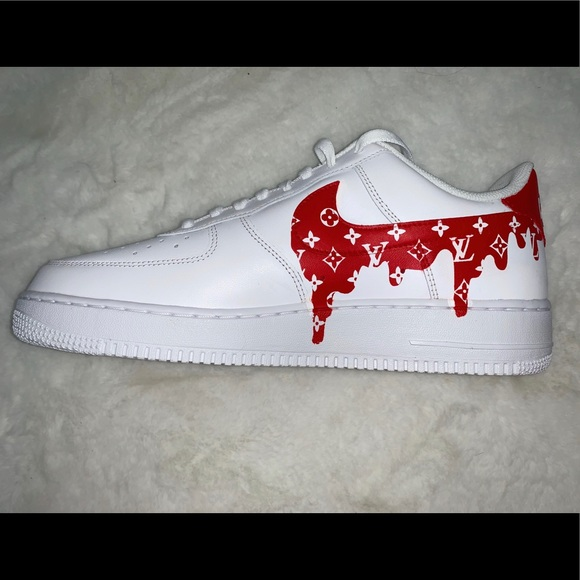 Custom Air Force 1 // Louis Vuitton x Supreme